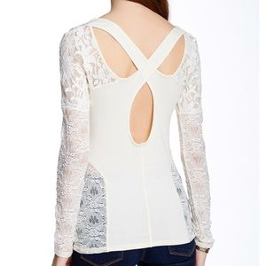 People Sweet Thang Blouse in Cream